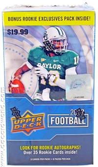 2012 Upper Deck Football 8-Pack Box (20 Box Lot)