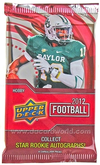 2012 Upper Deck Football Hobby Pack