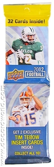 2012 Upper Deck Football Rack Pack - RUSSELL WILSON RC - Regular Price $4.99 !!!