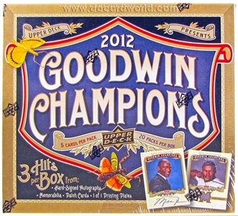 2012 Upper Deck Goodwin Champions Hobby Box