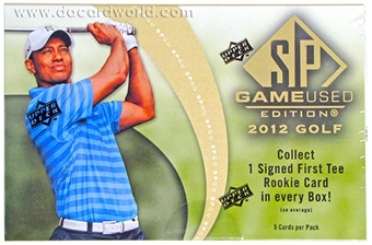 2012 Upper Deck SP Game Used Golf Hobby Pack