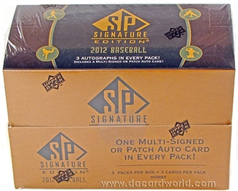 2012 Upper Deck SP Signature Baseball Hobby 6-Box Case - DACW Live Random Team Break