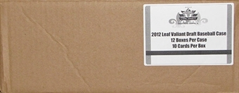 2012 Leaf Valiant Draft Baseball Hobby 12-Box Case