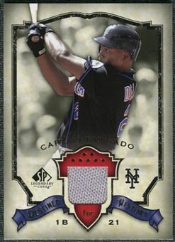 2008 Upper Deck SP Legendary Cuts Destined for History Memorabilia #CD Carlos Delgado
