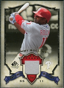 2008 Upper Deck SP Legendary Cuts Destined for History Memorabilia #JR Jimmy Rollins
