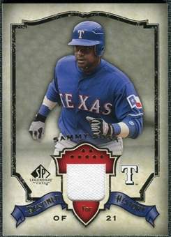 2008 Upper Deck SP Legendary Cuts Destined for History Memorabilia #SS Sammy Sosa