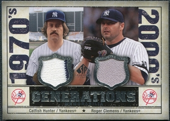 2008 Upper Deck SP Legendary Cuts Generations Dual Memorabilia #HC Catfish Hunter Roger Clemens
