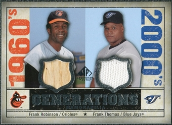 2008 Upper Deck SP Legendary Cuts Generations Dual Memorabilia #FF Frank Robinson Frank Thomas