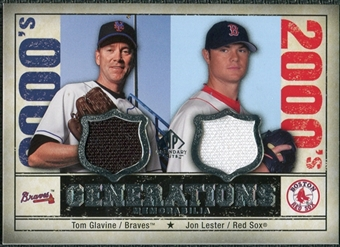 2008 Upper Deck SP Legendary Cuts Generations Dual Memorabilia #GL Tom Glavine Jon Lester