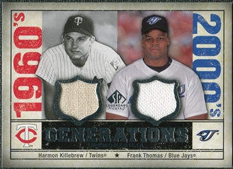 2008 Upper Deck SP Legendary Cuts Generations Dual Memorabilia #KT Harmon Killebrew Frank Thomas