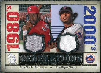 2008 Upper Deck SP Legendary Cuts Generations Dual Memorabilia #OJ Ozzie Smith Jose Reyes