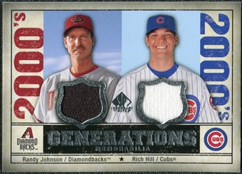 2008 Upper Deck SP Legendary Cuts Generations Dual Memorabilia #RR Randy Johnson Rich Hill