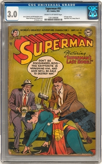 Superman #92 CGC 3.0 (C-OW) *1301308008*