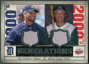 2008 Upper Deck SP Legendary Cuts Generations Dual Memorabilia #SY Gary Sheffield Delmon Young