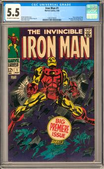 Iron Man #1 CGC 5.5 (OW-W) *1301315010*