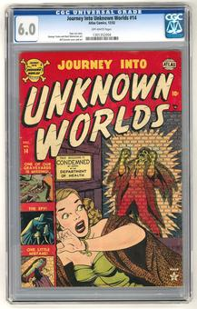 Journey Into Unknown Worlds #14 CGC 6.0 (OW) *1301352004*
