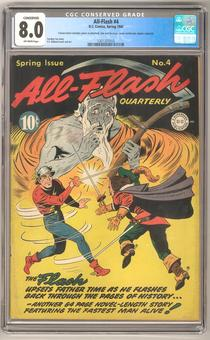 All-Flash #4 CGC 8.0 (OW) *1301357010* Conserved