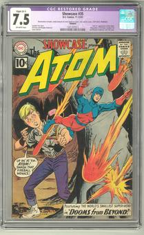 Showcase #35 CGC 7.5 (OW) Restored *1301357011* Trimmed