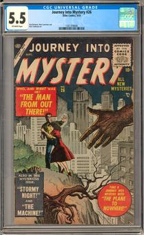 Journey Into Mystery #26 CGC 5.5 (OW) *1301359006*