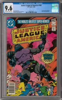 Justice League of America #185 CGC 9.6 (OW-W) *1301377011*
