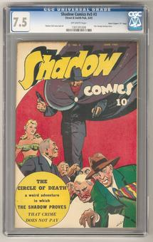 "Shadow Comics v5 #3 CGC 7.5 (OW) *1301391008* (Davis Crippen ""D"" Copy)"