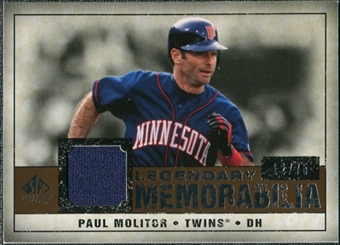 2008 Upper Deck SP Legendary Cuts Legendary Memorabilia Copper #PM2 Paul Molitor /75