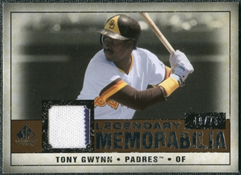 2008 Upper Deck SP Legendary Cuts Legendary Memorabilia Copper Parallel #TG2 Tony Gwynn /75