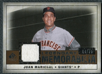 2008 Upper Deck SP Legendary Cuts Legendary Memorabilia Copper #JU Juan Marichal /75