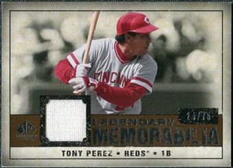2008 Upper Deck SP Legendary Cuts Legendary Memorabilia Copper #TP Tony Perez /75
