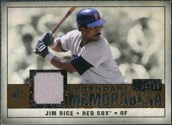 2008 Upper Deck SP Legendary Cuts Legendary Memorabilia Copper Parallel #RI Jim Rice /75