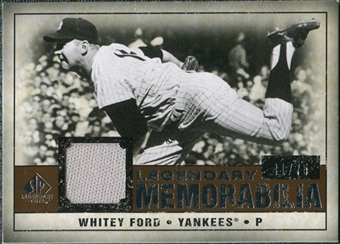 2008 Upper Deck SP Legendary Cuts Legendary Memorabilia Copper Parallel #WF Whitey Ford /75