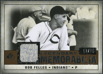 2008 Upper Deck SP Legendary Cuts Legendary Memorabilia Copper #BF Bob Feller /75