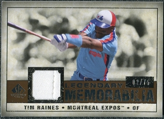 2008 Upper Deck SP Legendary Cuts Legendary Memorabilia Copper #TR Tim Raines /75