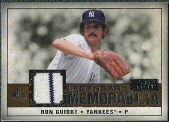 2008 Upper Deck SP Legendary Cuts Legendary Memorabilia Copper #RG Ron Guidry /75