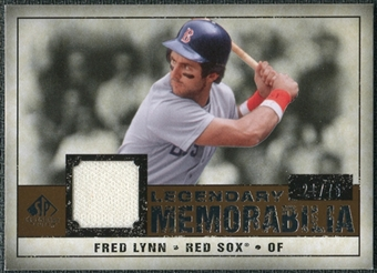 2008 Upper Deck SP Legendary Cuts Legendary Memorabilia Copper Parallel #FL Fred Lynn /75