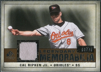 2008 Upper Deck SP Legendary Cuts Legendary Memorabilia Copper Parallel #CR Cal Ripken Jr. /75