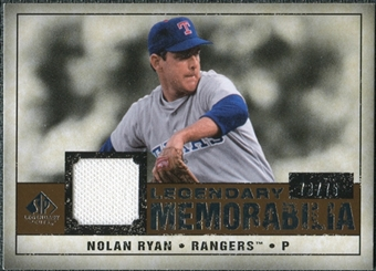 2008 Upper Deck SP Legendary Cuts Legendary Memorabilia Copper #NR Nolan Ryan /75