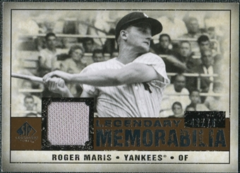 2008 Upper Deck SP Legendary Cuts Legendary Memorabilia Copper #RM Roger Maris 42/75
