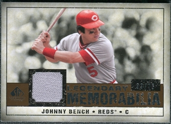 2008 Upper Deck SP Legendary Cuts Legendary Memorabilia Copper #BE Johnny Bench /75