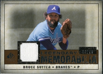 2008 Upper Deck SP Legendary Cuts Legendary Memorabilia Copper #BS Bruce Sutter /75
