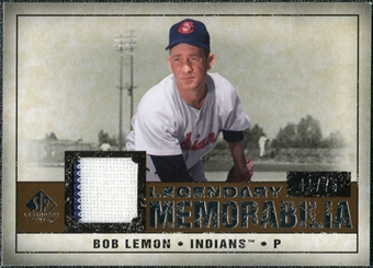 2008 Upper Deck SP Legendary Cuts Legendary Memorabilia Copper Parallel #LE Bob Lemon /75