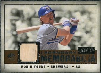 2008 Upper Deck SP Legendary Cuts Legendary Memorabilia Copper #RY Robin Yount /75