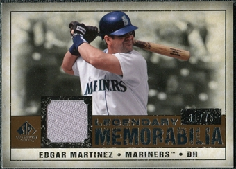 2008 Upper Deck SP Legendary Cuts Legendary Memorabilia Copper #MA Edgar Martinez /75