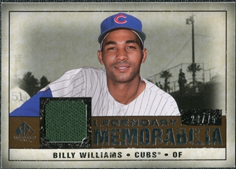 2008 Upper Deck SP Legendary Cuts Legendary Memorabilia Copper #BW Billy Williams /75
