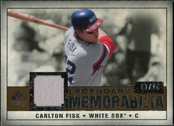 2008 Upper Deck SP Legendary Cuts Legendary Memorabilia Copper #CF2 Carlton Fisk /75