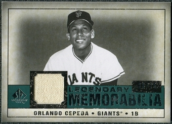 2008 Upper Deck SP Legendary Cuts Legendary Memorabilia Green Parallel #OC Orlando Cepeda /75
