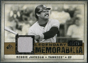 2008 Upper Deck SP Legendary Cuts Legendary Memorabilia #RJ Reggie Jackson /75