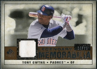 2008 Upper Deck SP Legendary Cuts Legendary Memorabilia Copper Parallel #TG3 Tony Gwynn /75