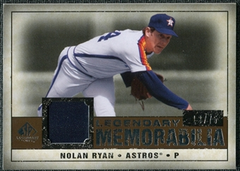2008 Upper Deck SP Legendary Cuts Legendary Memorabilia Copper #NR3 Nolan Ryan /75