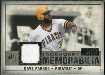 2008 Upper Deck SP Legendary Cuts Legendary Memorabilia Taupe #DP Dave Parker /10